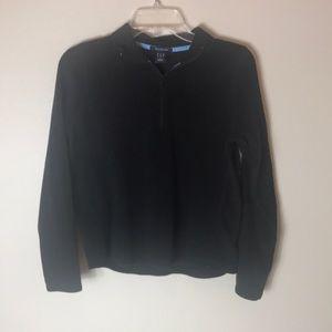 Black polar fleece pullover